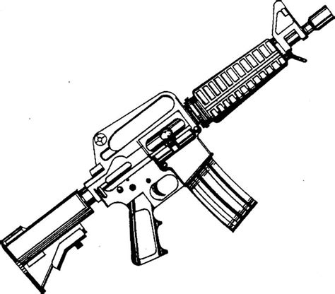 Coloring Page 15 by Ar 15 Coloring Page M16 Gun Colouring Pages Page 3