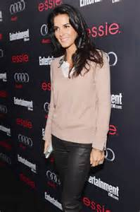 angie harmon  leather pants  ew pre sag party