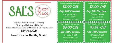 salon ultima coupons sal s pizza place huntley illinois delivery pick up