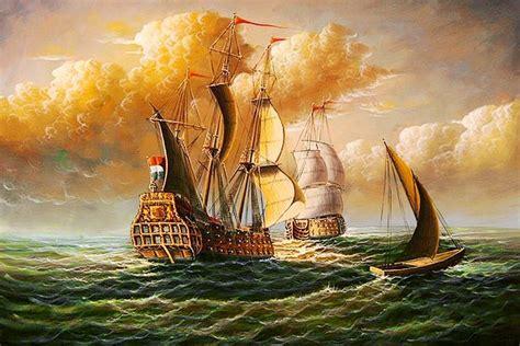 barco pirata los gigantes cuadros modernos pinturas y dibujos paisajes marinos con