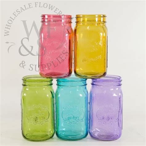 coloured wholesale glass jars wholesale flowers and supplies