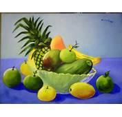 Bodegon De Frutas Tropicales Acuarela Papel Bodegones Lmm