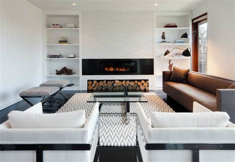 modern built in fireplace modern built ins for every room and purpose