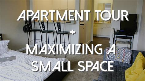 how to maximize studio apartment space studio apartment tour maximizing a small space youtube