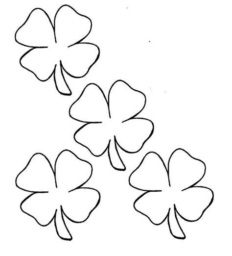 four leaf clover template az coloring pages