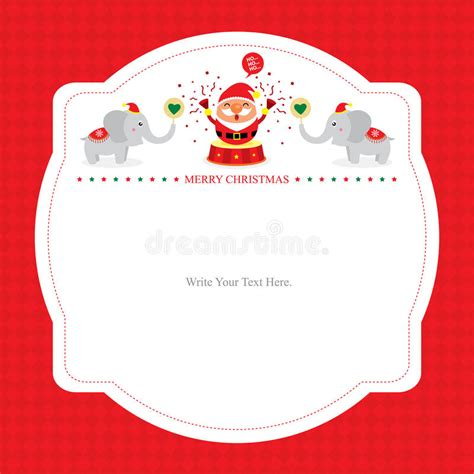 santa card template card template with santa claus stock vector