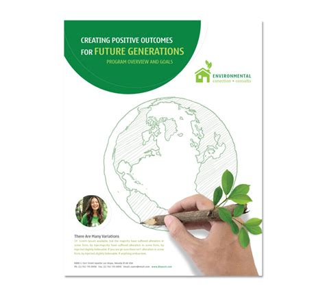 environmental protection plan template environmental protection flyer template