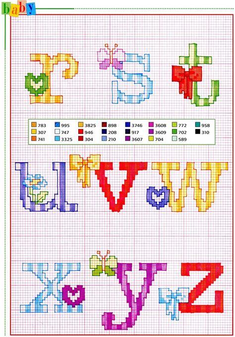 schemi punto croce farfalle e fiori alfabeto punto croce con fiocchi fiori e farfalle 3