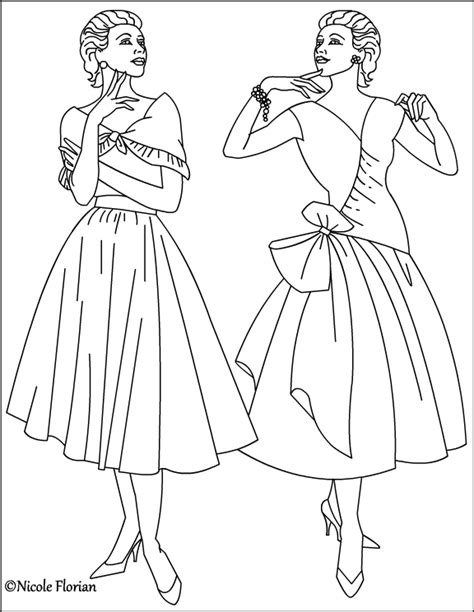 nicole s free coloring pages vintage fashion coloring pages