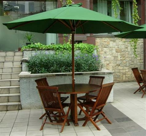 Meja Payung Jati Kolam Outdoor meja payung kursi taman outdoor kursi lipat jati meja kayu meja cafe outdoor and cafes