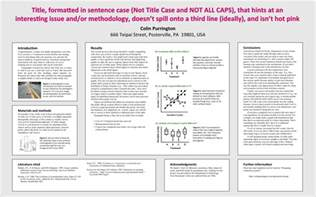 template for scientific poster academic poster
