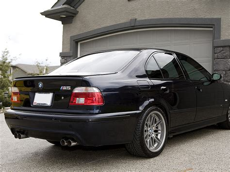 painted for bmw e39 95 03 sedan m5 trunk lip spoiler jet black 668 ebay