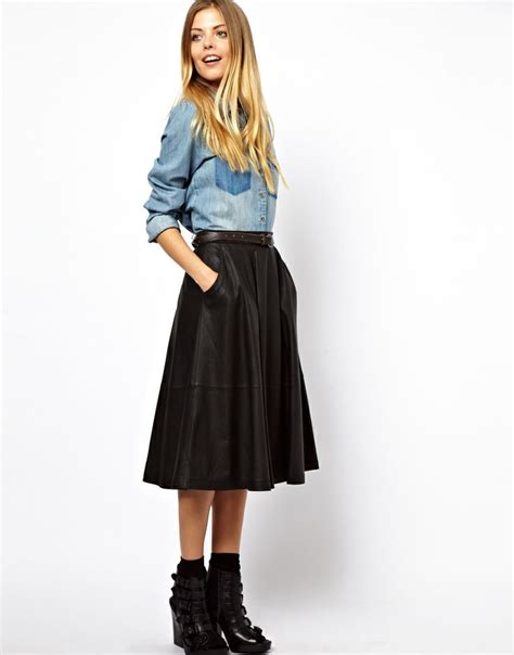 best 20 leather midi skirt ideas on pleated