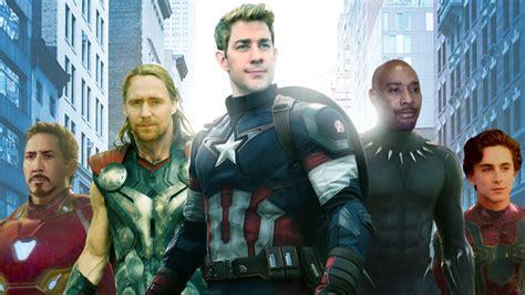 photoshopped alternate cast avengers