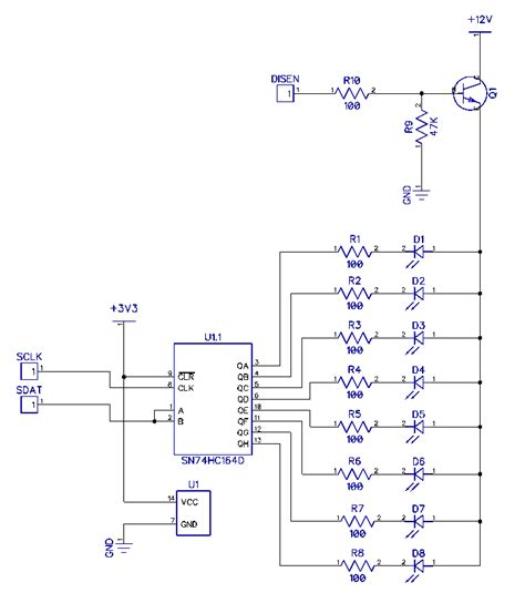 npn transistor driving led driving led using sn74hc164 and transistor apparently this schematic works but i don t