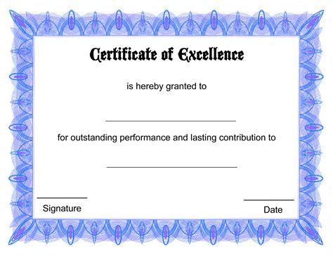 certificate design blank templates blank certificate templates kiddo shelter