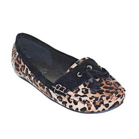 leopard loafers for womens flat leopard print tassel loafers slip on