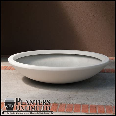 low bowl planters low profile planter pot fiberglass bowl planters