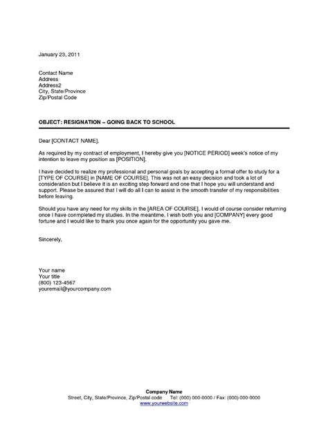 Resignation Letter From Education Department Resuming Education Resignation Letter Template Templatezet