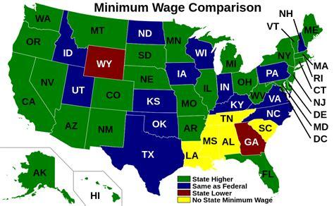 national minimum wage us file us minimum wage comparison by state svg