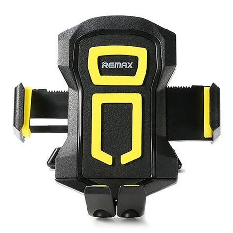 Remax Phone Holder remax rm 14 car mobile phone holder black yellow