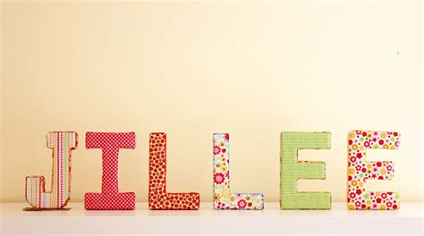 make your own fun fabric covered letters one good thing