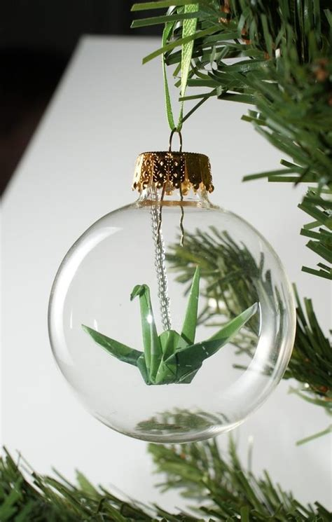 Origami Tree Ornaments - how to fill clear glass ornaments 25 ideas shelterness