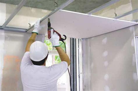 come montare il cartongesso al soffitto intonacatura e cartongesso i lavori di ristrutturazione