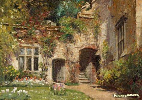 corner   garden   castle walls dunster