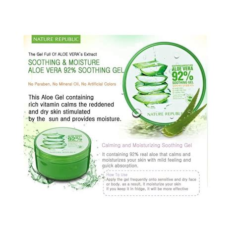 nature republic soothing gel aloe vera 92 300ml skincare