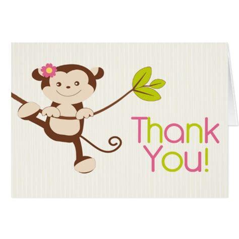 Birthday Thank You Cards Cute Modern Monkey Birthday Party Thank You Card Zazzle