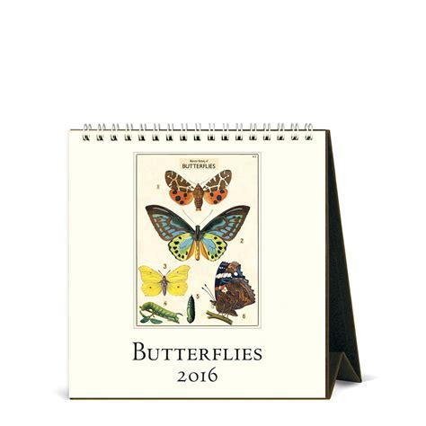 Cavallini Calendars Cavallini Papers 2016 Desk Calendar Butterflies 6 X 6 5