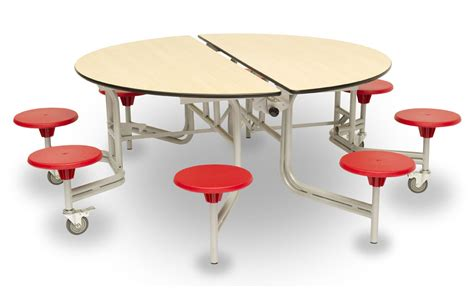 Table Top Easels Round Mobile Folding Table Seating Unit Dining