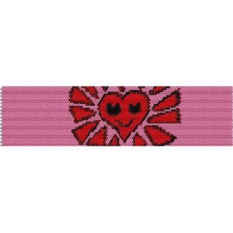 heart pattern loom happy heart loom beading pattern for cuff bracelet sale