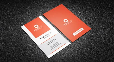 free vertical business card template free vertical orange zest business card template