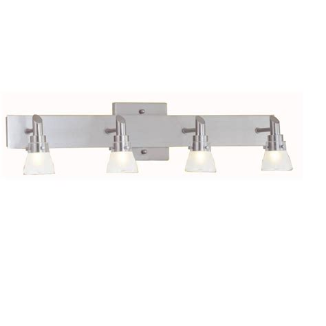 Nickel Bathroom Lights Portfolio 4 Light Brushed Nickel Bathroom Vanity Light Lowe S Canada
