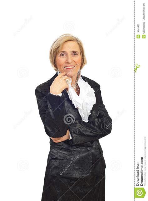 elegant mature woman wearing silver jewelry stock photo elegant senior woman with pearls stock photos image