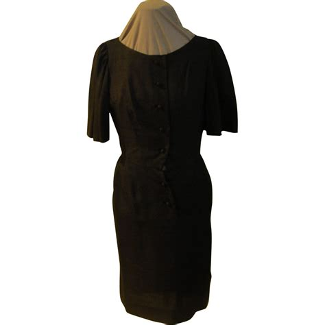 Button Front Sleeve Dress wide sleeve button front black dress from hodgepodgelodge
