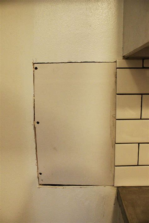replacing a section of drywall how to install or repair drywall for a kitchen backsplash