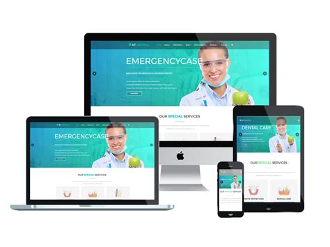at dental free responsive dental website templates