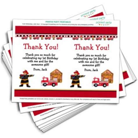 printable thank you cards for firefighters thank you cards