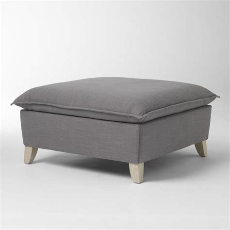 ottoman modern bliss ottoman modern footstools and ottomans by west elm