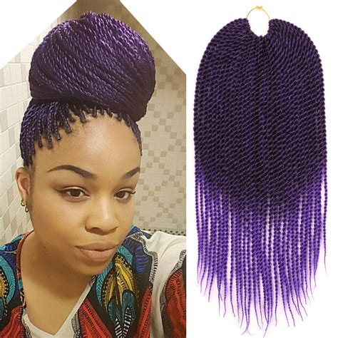 purple ombre braiding hair ombre purple crochet twist braid hair extension two tone