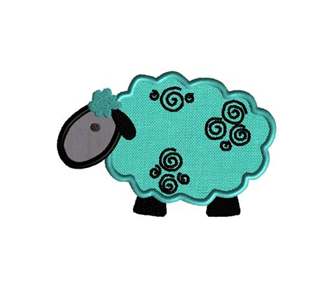 embroidery design lamb lamb applique design