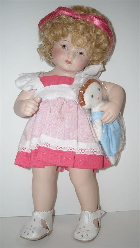 porcelain dolls w 10 1 4 quot all porcelain doll w cloth doll from dollroom on