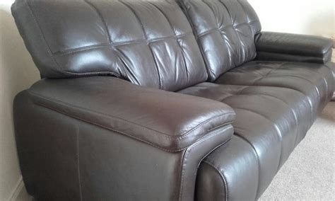 2 seater brown leather sofa 163 200 00 picclick uk