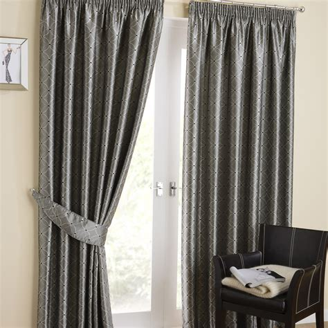 Tuscany Silver Pencil Pleat Curtains Pencil Pleat