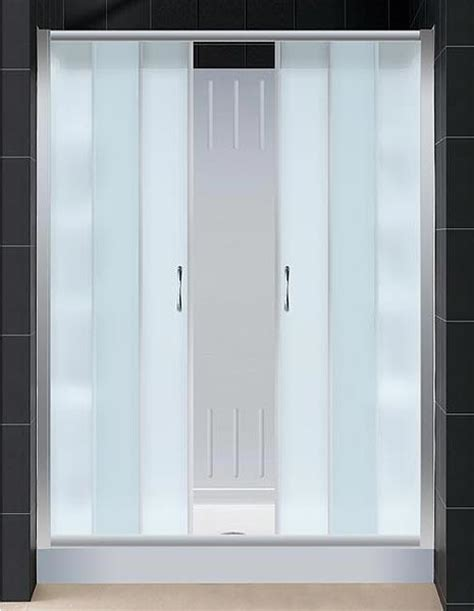 Shower Door Kit by Visions Sliding Shower Door And Shower Backwall Kit