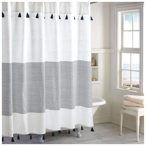 navy and tan shower curtain black and brown striped shower curtain soozone