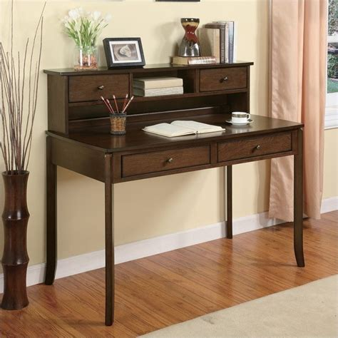 Desk With Small Hutch Desks Classic Writing Desk With Small Storage Hutch In Walnut 800769
